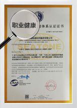 职业健康体系认证书